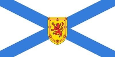 Die Flagge von Nova Scotia ist dem Provinzwappen nachempfunden. Das Wappen zeigt ein blaues Andreaskreuz auf weißem Grund.