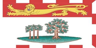 Die Flagge von Prince Edward Island ist ein dem Provinzwappen nachempfundenes Banner.